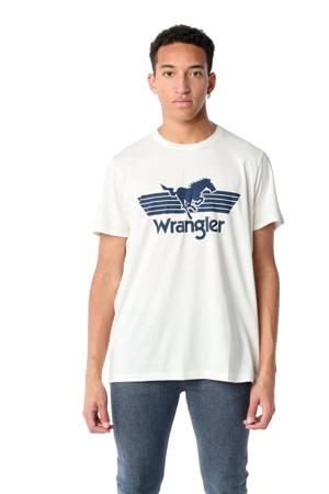 WRANGLER SS HORSE TEE OFF WHITE W7M2FQ737