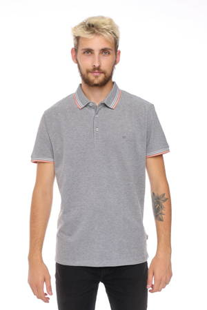 WRANGLER SS REFINED POLO COLD GREY W7D6KHXGN