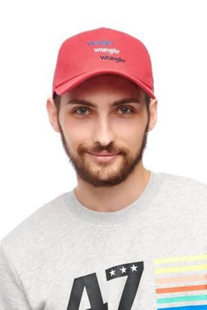 WRANGLER TRIPLE LOGO CAP RED W0U7U5X47